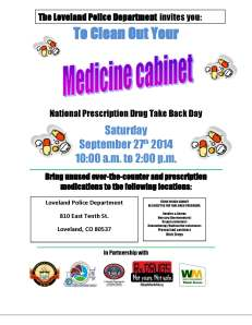 2014 Loveland Drug Take Back Flier