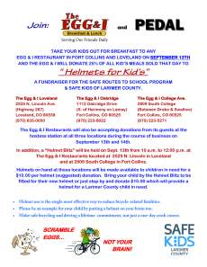 Helmets for Kids Fundraiser2014