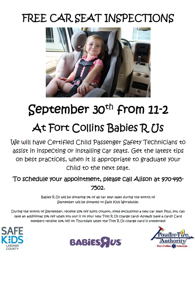 September Car Seat Checkup Events